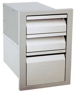 BBQ Grill Access Drawer gas grill triple drawers